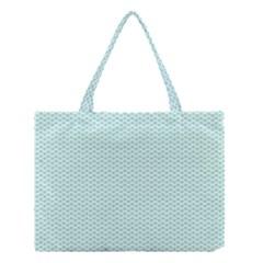 Tiffany Aqua Blue Lipstick Kisses on White Medium Tote Bag