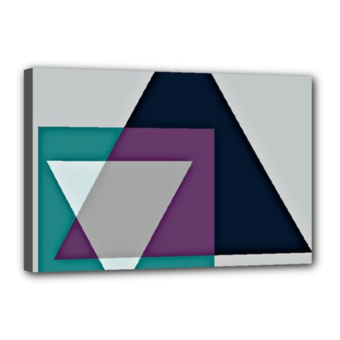Geodesic Triangle Square Canvas 18  x 12