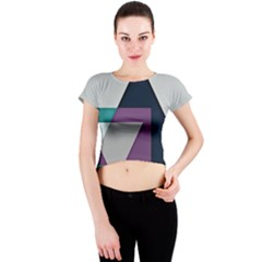 Geodesic Triangle Square Crew Neck Crop Top