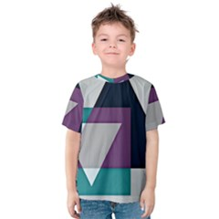 Geodesic Triangle Square Kids  Cotton Tee
