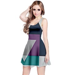 Geodesic Triangle Square Reversible Sleeveless Dress