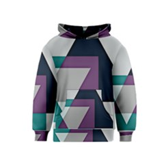 Geodesic Triangle Square Kids  Pullover Hoodie
