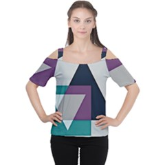 Geodesic Triangle Square Women s Cutout Shoulder Tee
