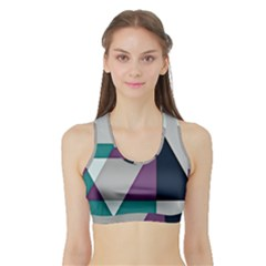 Geodesic Triangle Square Sports Bra with Border