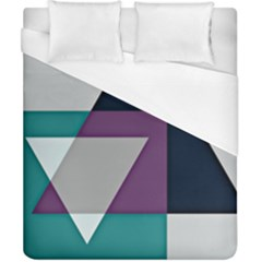 Geodesic Triangle Square Duvet Cover (California King Size)