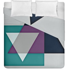 Geodesic Triangle Square Duvet Cover Double Side (King Size)