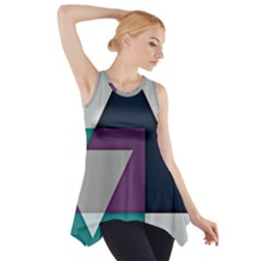 Geodesic Triangle Square Side Drop Tank Tunic