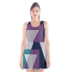 Geodesic Triangle Square Scoop Neck Skater Dress