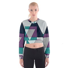 Geodesic Triangle Square Cropped Sweatshirt
