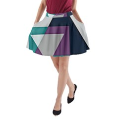 Geodesic Triangle Square A-Line Pocket Skirt