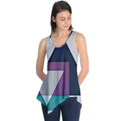 Geodesic Triangle Square Sleeveless Tunic