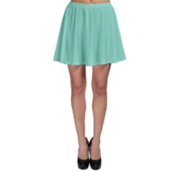 Tiffany Aqua Blue Puffy Quilted Pattern Skater Skirt
