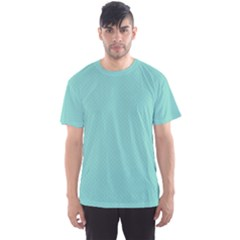 Tiffany Aqua Blue Puffy Quilted Pattern Men s Sport Mesh Tee