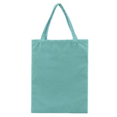 Tiffany Aqua Blue Puffy Quilted Pattern Classic Tote Bag