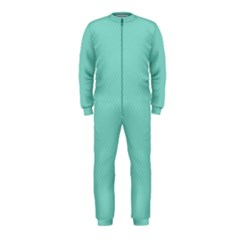 Tiffany Aqua Blue Puffy Quilted Pattern OnePiece Jumpsuit (Kids)