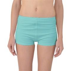 Tiffany Aqua Blue Puffy Quilted Pattern Reversible Bikini Bottoms