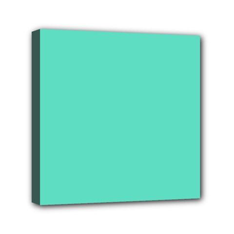 Classic Tiffany Aqua Blue Solid Color Mini Canvas 6  x 6