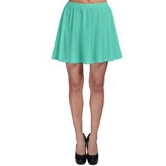 Classic Tiffany Aqua Blue Solid Color Skater Skirt