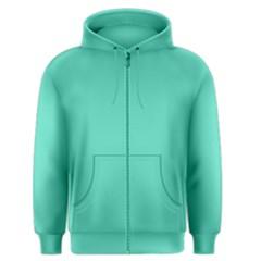 Classic Tiffany Aqua Blue Solid Color Men s Zipper Hoodie