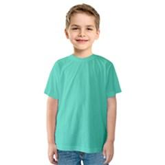 Classic Tiffany Aqua Blue Solid Color Kids  Sport Mesh Tee