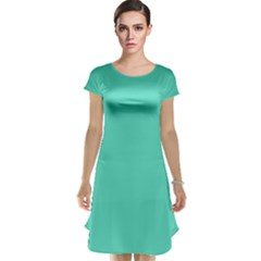 Classic Tiffany Aqua Blue Solid Color Cap Sleeve Nightdress