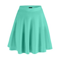 Classic Tiffany Aqua Blue Solid Color High Waist Skirt