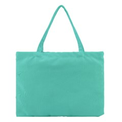 Classic Tiffany Aqua Blue Solid Color Medium Tote Bag