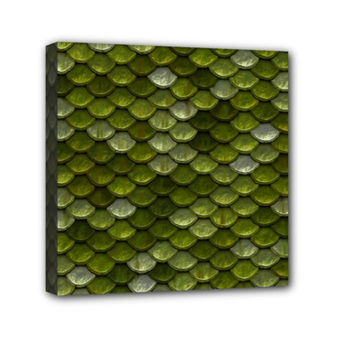 Green Scales Mini Canvas 6  x 6
