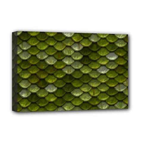 Green Scales Deluxe Canvas 18  x 12