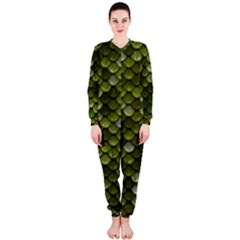 Green Scales OnePiece Jumpsuit (Ladies)