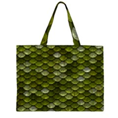Green Scales Large Tote Bag