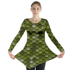 Green Scales Long Sleeve Tunic