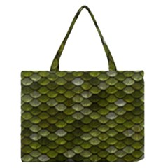 Green Scales Medium Zipper Tote Bag