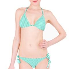 Tiffany Aqua Blue Chevron Zig Zag Bikini Set