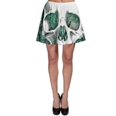 Green Skull Skater Skirt