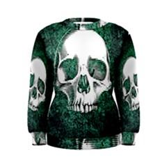 Green Skull Women s Sweatshirt