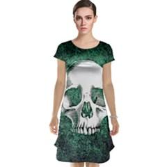Green Skull Cap Sleeve Nightdress