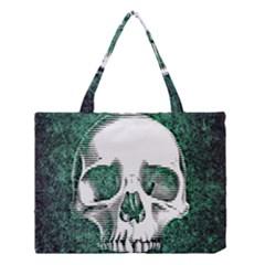 Green Skull Medium Tote Bag