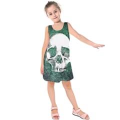Green Skull Kids  Sleeveless Dress