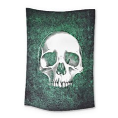 Green Skull Small Tapestry