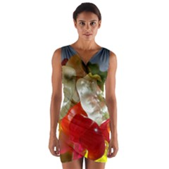 Gummi Bears Wrap Front Bodycon Dress