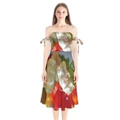 Gummi Bears Shoulder Tie Bardot Midi Dress
