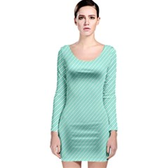 Tiffany Aqua Blue Deckchair Stripes Long Sleeve Bodycon Dress