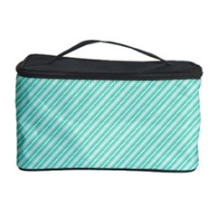 Tiffany Aqua Blue Deckchair Stripes Cosmetic Storage Case