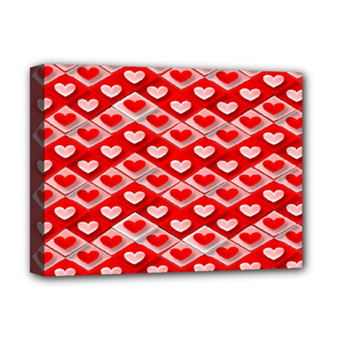 Hearts On Tile Deluxe Canvas 16  x 12