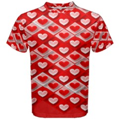 Hearts On Tile Men s Cotton Tee