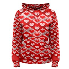 Hearts On Tile Women s Pullover Hoodie