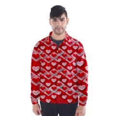 Hearts On Tile Wind Breaker (Men)