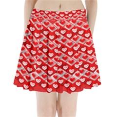 Hearts On Tile Pleated Mini Skirt