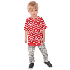Hearts On Tile Kids  Raglan Tee
